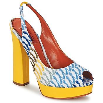 鞋子 女士 凉鞋 Missoni XM005 黄色 / 蓝色