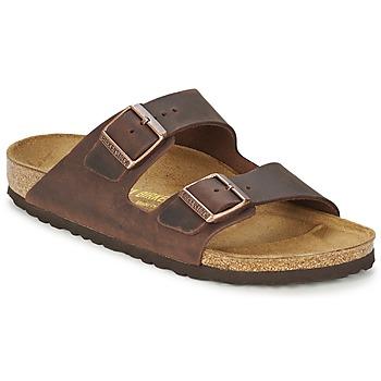 鞋子 男士 休闲凉拖/沙滩鞋 Birkenstock 勃肯 ARIZONA 棕色