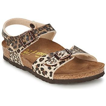 鞋子 女孩 凉鞋 Birkenstock 勃肯 RIO Leopard / 棕色