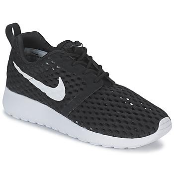 鞋子 男孩 球鞋基本款 Nike 耐克 ROSHE ONE FLIGHT WEIGHT BREATHE JUNIOR 黑色