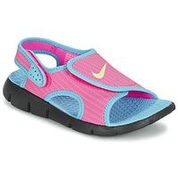 鞋子 女孩 凉鞋 Nike 耐克 SUNRAY ADJUST 4 玫瑰色 / 蓝色