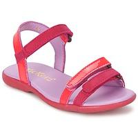 鞋子 女孩 凉鞋 Kickers ARCENCIEL 紫红色 / 玫瑰色 / Fluo