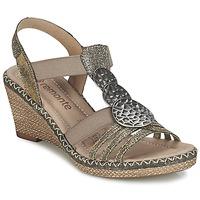 鞋子 女士 凉鞋 Remonte TINACE 金色 / 银色