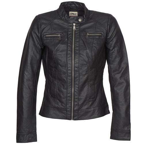 衣服 女士 皮夹克/ 人造皮革夹克 Only BANDIT 黑色
