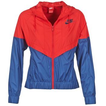 衣服 女士 冲锋衣 Nike 耐克 WINDRUNNER 海蓝色 / 红色