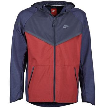衣服 男士 冲锋衣 Nike 耐克 TECH WINDRUNNER 红色 / 海蓝色 / 灰色