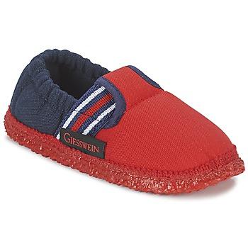 鞋子 男孩 拖鞋 Giesswein AICHACH 红色 / 海蓝色