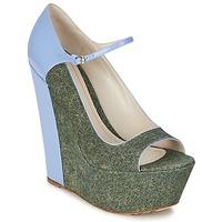 鞋子 女士 高跟鞋 John Galliano S54261 蓝色 / 绿色