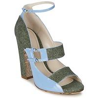 鞋子 女士 凉鞋 John Galliano A54250 蓝色 / 绿色