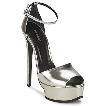 鞋子 女士 凉鞋 Roberto Cavalli 罗伯特·卡沃利 XPS260-PZ048 灰色 / 银色