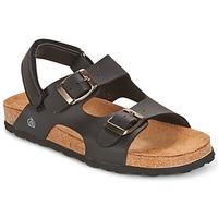 鞋子 男孩 涼鞋 Citrouille et Compagnie BALDODE 黑色 / Matt