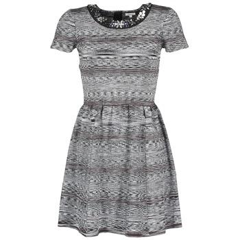 衣服 女士 短裙 Manoush BIJOU ROBE 黑色 / 灰色