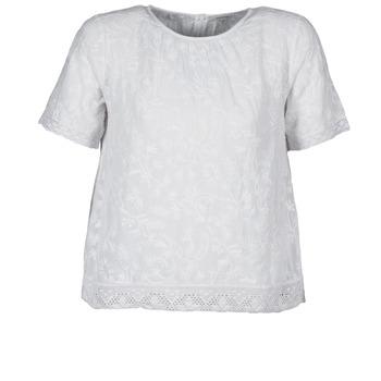 衣服 女士 短袖体恤 Manoush COTONNADE SMOCKEE 白色