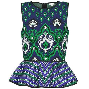 衣服 女士 无领短袖套衫/无袖T恤 Manoush JACQUARD OOTOMAN 蓝色 / 黑色 / 绿色