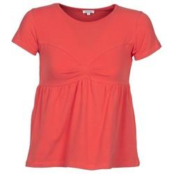衣服 女士 短袖体恤 Manoush MOLLETON 珊瑚色