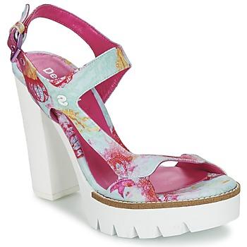 鞋子 女士 凉鞋 Desigual VENICE 松石绿 / 玫瑰色