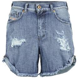 衣服 女士 短裤&百慕大短裤 Diesel 迪赛尔 DE SCOTT 蓝色