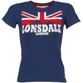 衣服 女士 短袖体恤 Lonsdale ERYKAH 蓝色