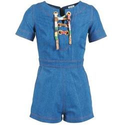 衣服 女士 连体衣/连体裤 Manoush LACET 蓝色 / 牛仔