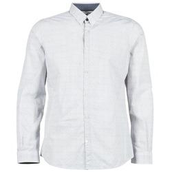 衣服 男士 长袖衬衫 Tom Tailor 汤姆裁缝 MARCHALO 白色 / 海蓝色