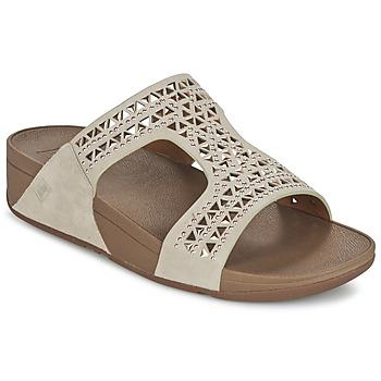鞋子 女士 休闲凉拖/沙滩鞋 FitFlop CARMEL SLIDE 米色