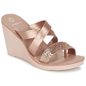 鞋子 女士 凉鞋 Grendha PARADISO II PLAT 玫瑰色 / 金属光泽