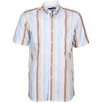 衣服 男士 短袖衬衫 Pierre Cardin 皮尔卡丹 539936240-130 蓝色 / 米色 / 棕色