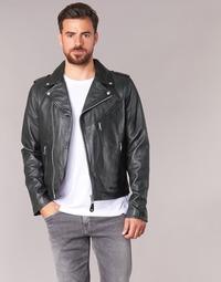 衣服 男士 皮夹克/ 人造皮革夹克 Schott LEVOQ 黑色