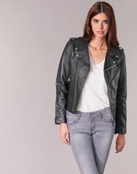 衣服 女士 皮夹克/ 人造皮革夹克 Schott SIMOUDE 黑色