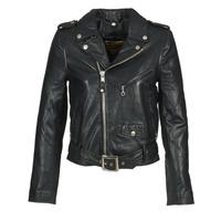 衣服 女士 皮夹克/ 人造皮革夹克 Schott GUELINE 黑色