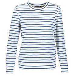 衣服 女士 卫衣 Petit Bateau 小帆船 BEAM 白色 / 海蓝色