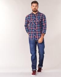 衣服 男士 直筒牛仔裤 G-Star Raw 3301 STRAIGHT 深海蓝色 / 蓝色 / Dk