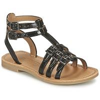 鞋子 女孩 凉鞋 Shwik by Pom d'Api LAZAR BUCKLE 黑色