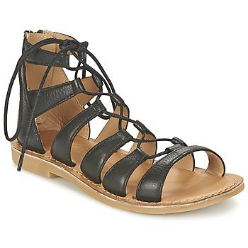 鞋子 女孩 凉鞋 Shwik by Pom d'Api LAZAR HI LACE 黑色
