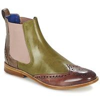 鞋子 女士 短筒靴 Melvin & Hamilton AMÉLIE 5 绿色 / 玫瑰色 / 米色