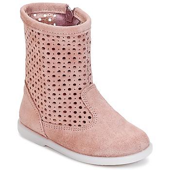 鞋子 女孩 短筒靴 Citrouille et Compagnie BOREAL 玫瑰色
