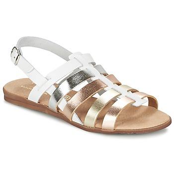 鞋子 女孩 凉鞋 Citrouille et Compagnie PEQUEBELLO 白色 / 金色