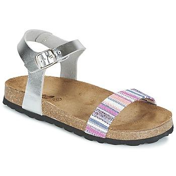 鞋子 女孩 凉鞋 Citrouille et Compagnie IGUANA 银色 / 多彩