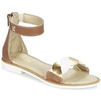 鞋子 女孩 凉鞋 Citrouille et Compagnie MINIMAZA 驼色 / 金色