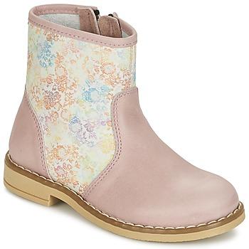 鞋子 女孩 短筒靴 Citrouille et Compagnie OUGAMO LIBERTY 玫瑰色 / 花色