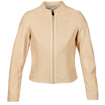 衣服 女士 皮夹克/ 人造皮革夹克 Oakwood 61848 米色 / 裸色
