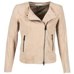 衣服 女士 皮夹克/ 人造皮革夹克 Oakwood 61903 玫瑰色 / 米色