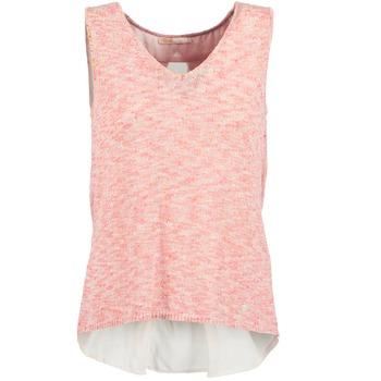 衣服 女士 无领短袖套衫/无袖T恤 LPB Woman NODOLA 珊瑚色