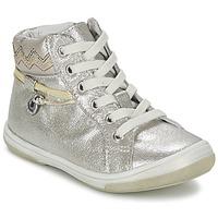鞋子 女孩 高帮鞋 Catimini CALLUNA 米色 / 银色