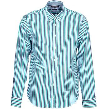 衣服 男士 长袖衬衫 Tommy Hilfiger KELL STP NF2 蓝色 / 绿色