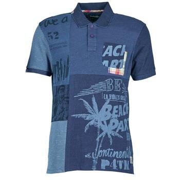 衣服 男士 短袖保罗衫 Desigual BELUDINE 蓝色