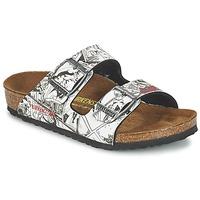 鞋子 男孩 休闲凉拖/沙滩鞋 Birkenstock 勃肯 ARIZONA 黑色 / 白色