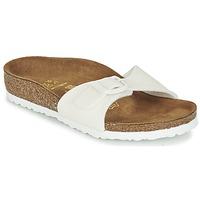 鞋子 女孩 休闲凉拖/沙滩鞋 Birkenstock 勃肯 MADRID 白色 / 浅黄色