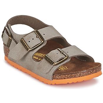鞋子 男孩 凉鞋 Birkenstock 勃肯 MILANO 灰褐色