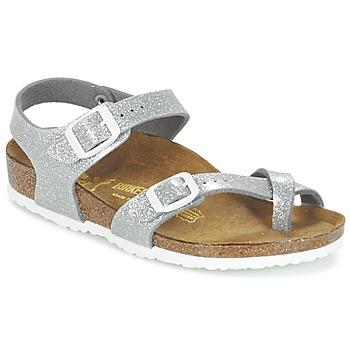 鞋子 女孩 凉鞋 Birkenstock 勃肯 TAORMINA 银色